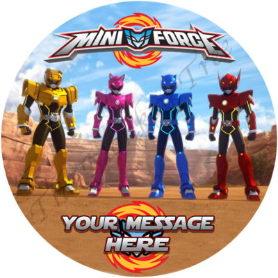 power rangers mini force edible cake image topper birthday fondant icing party Auckland