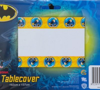 Batman Party table cover birthday party superhero Spiderman