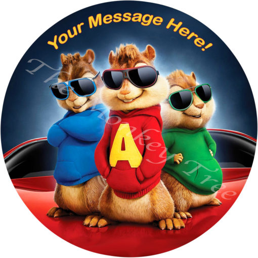 alvin and the chipmunks edible cake image topper birthday party cake