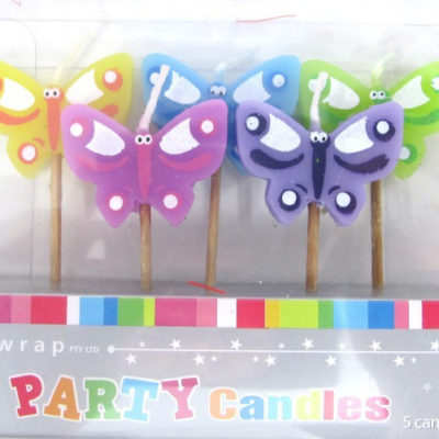 butterfly candle set birthday party