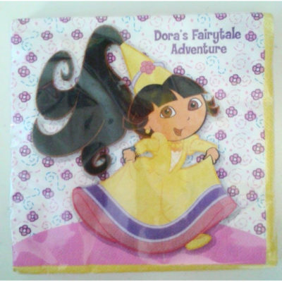 dora fairytale napkins. birthday party