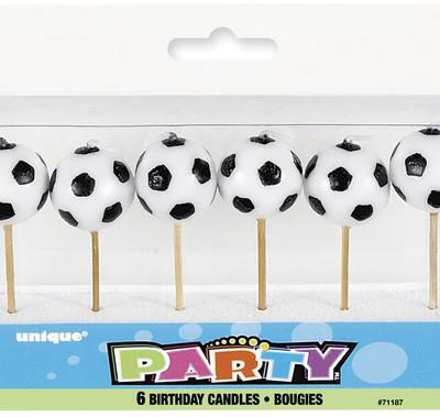 football soccer ball candles