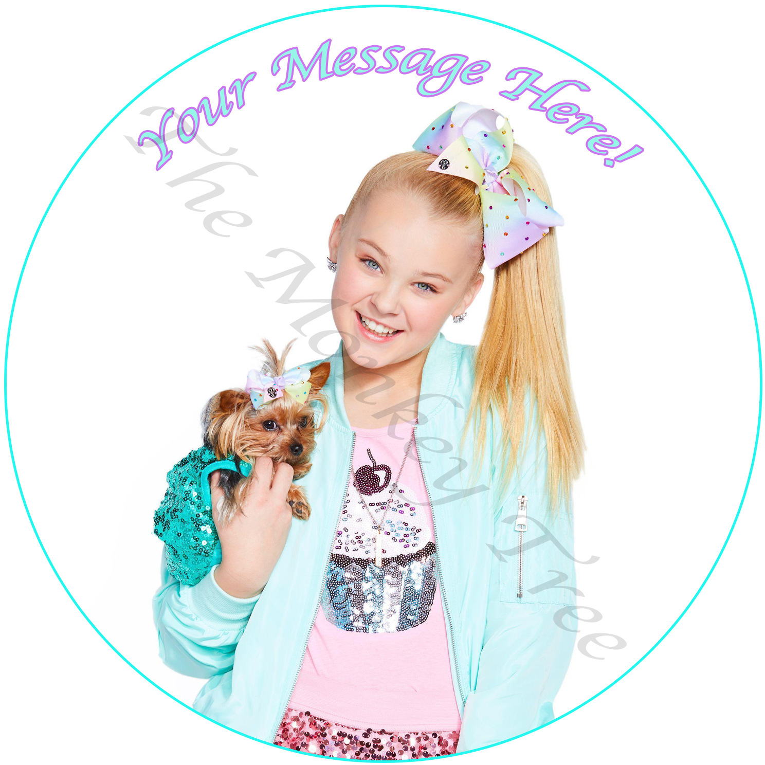Jojo Siwa Edible Image Party Birthday Cake Cupcake
