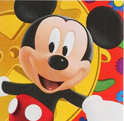 mickey mouse napkin birthday party clubhouse Minnie