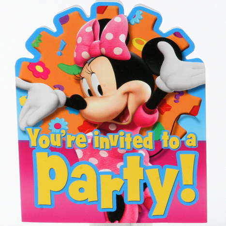 Minnie Mouse invitations birthday party invite
