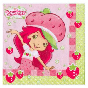 strawberry shortcake napkin birthday party