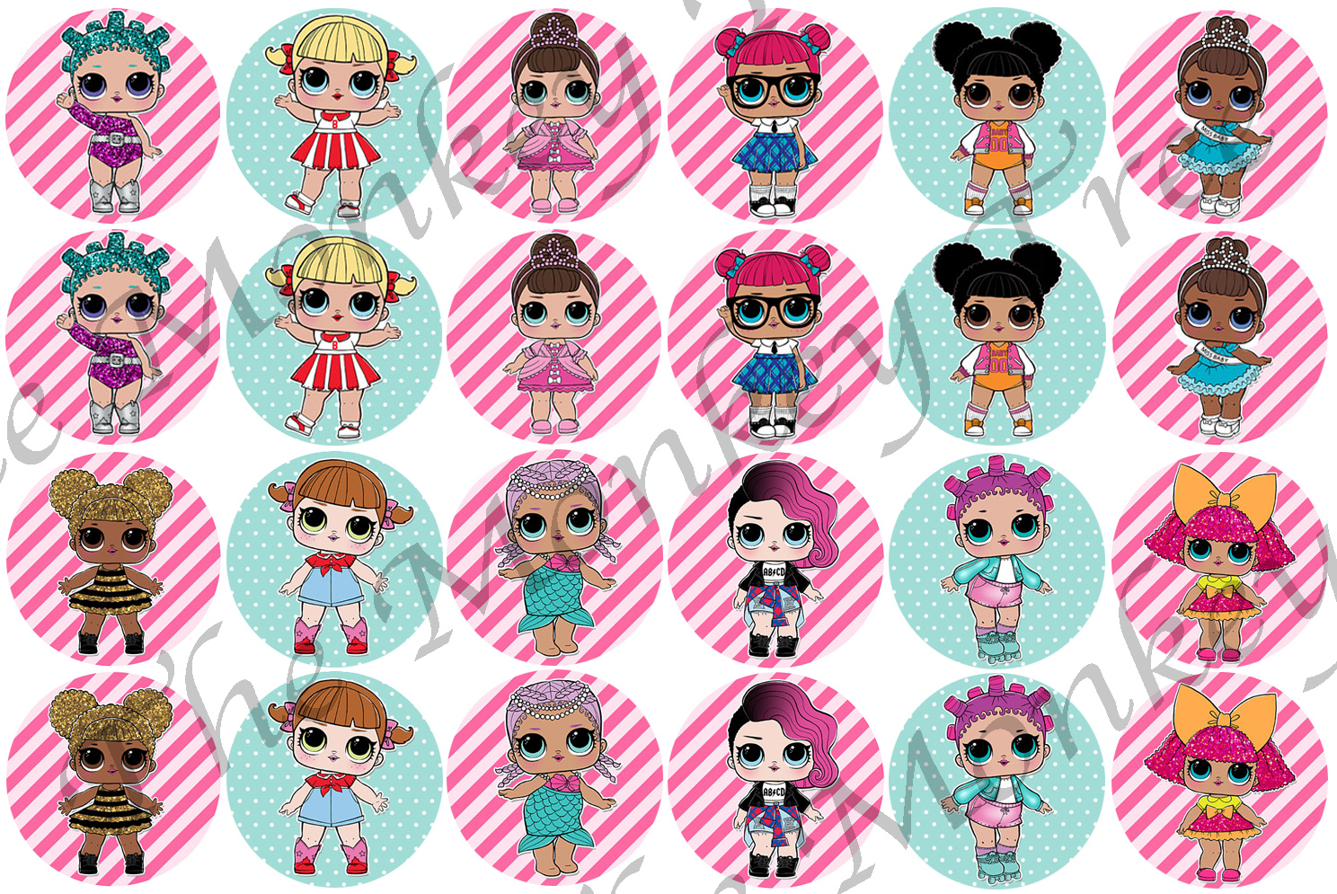LOL Surprise! Dolls Edible Cupcake Toppers x 24 | The ...