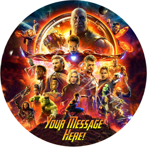 Avengers edible image cake fondant infinity wars