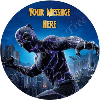Avengers edible image cake fondant infinity wars black panther superhero