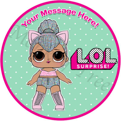 lol suprise doll edible image topper cake cupcake party confetti pop