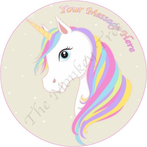 edible image fondant cake unicorn fairy magic