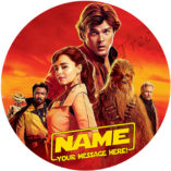star wars edible image fondant cake topper birthday party the last Jedi Han Solo