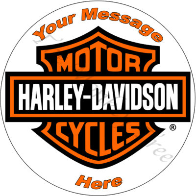 60th 50th Harley Davidson bike birthday cake edible cake image topper Harley motorbike