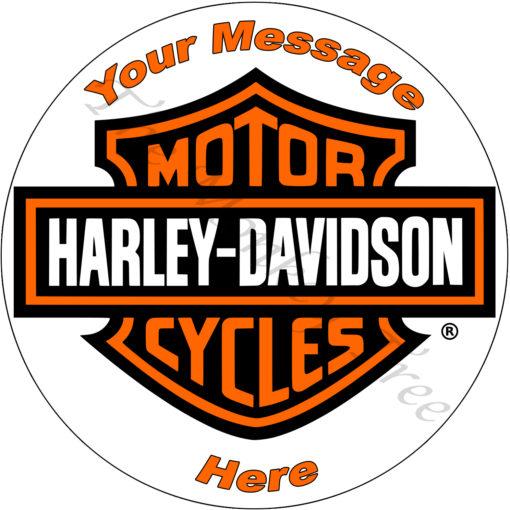 60th 50th Harley Davidson bike birthday cake edible cake image topper Harley motorbike