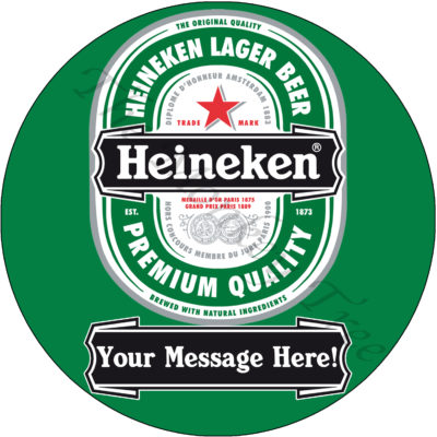 60th 50th Heineken 21st beer bike birthday cake edible cake image topper Heineken pub alcohol