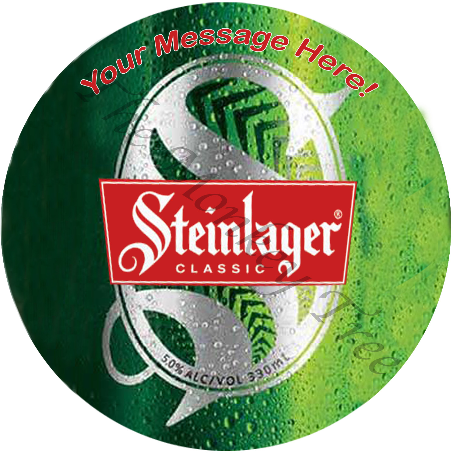 Steinlager 60th 50th 21st beer bike birthday cake edible cake image topper Steinlager pub alcohol