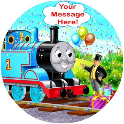 Thomas tank engine birthday cake edible image topper cupcake birthday