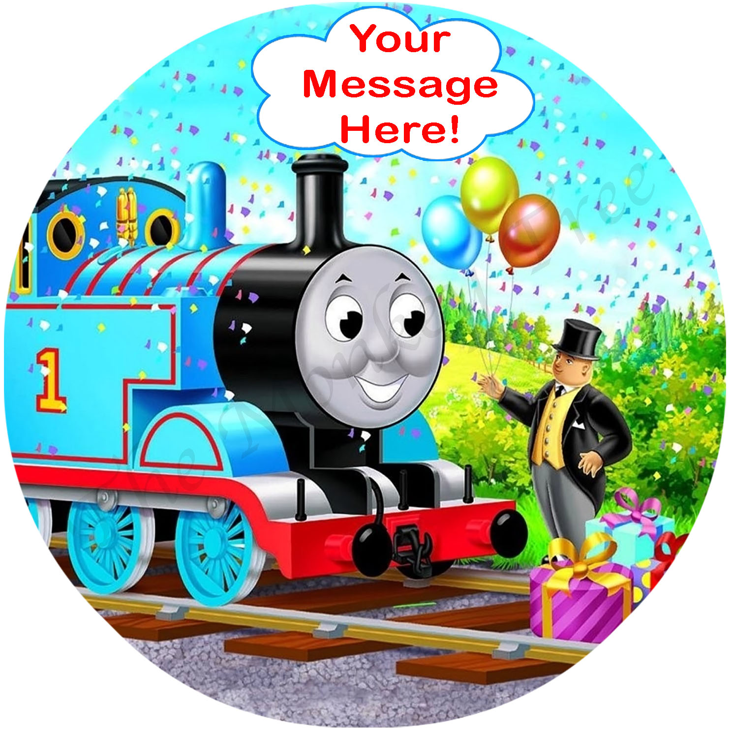 Thomas The Tank Engine Edible Cake Image Topper 3 The