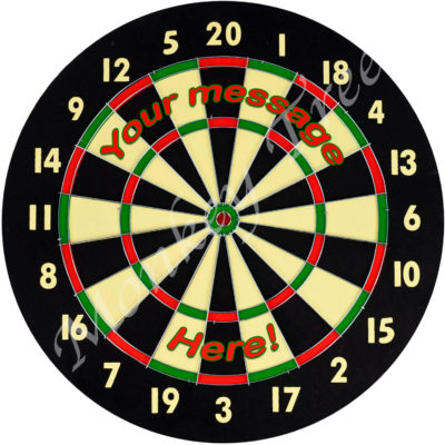 dartboard edible cake image topper fondant icing birthday 50th 21st 40th 60th cupcake cake