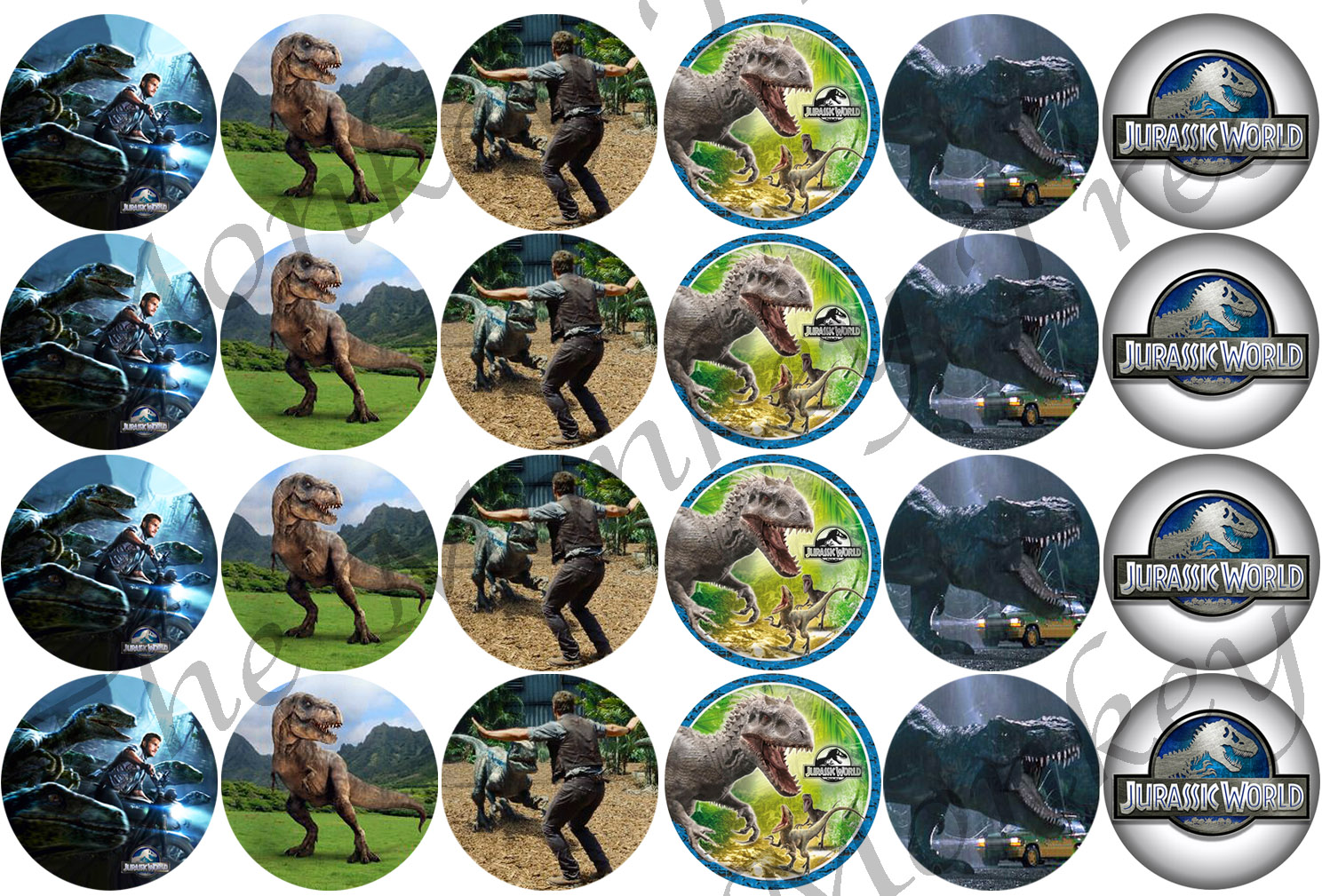 Jurassic World Dinosaur Cupcake Edible Cake Images Set Of 24 The