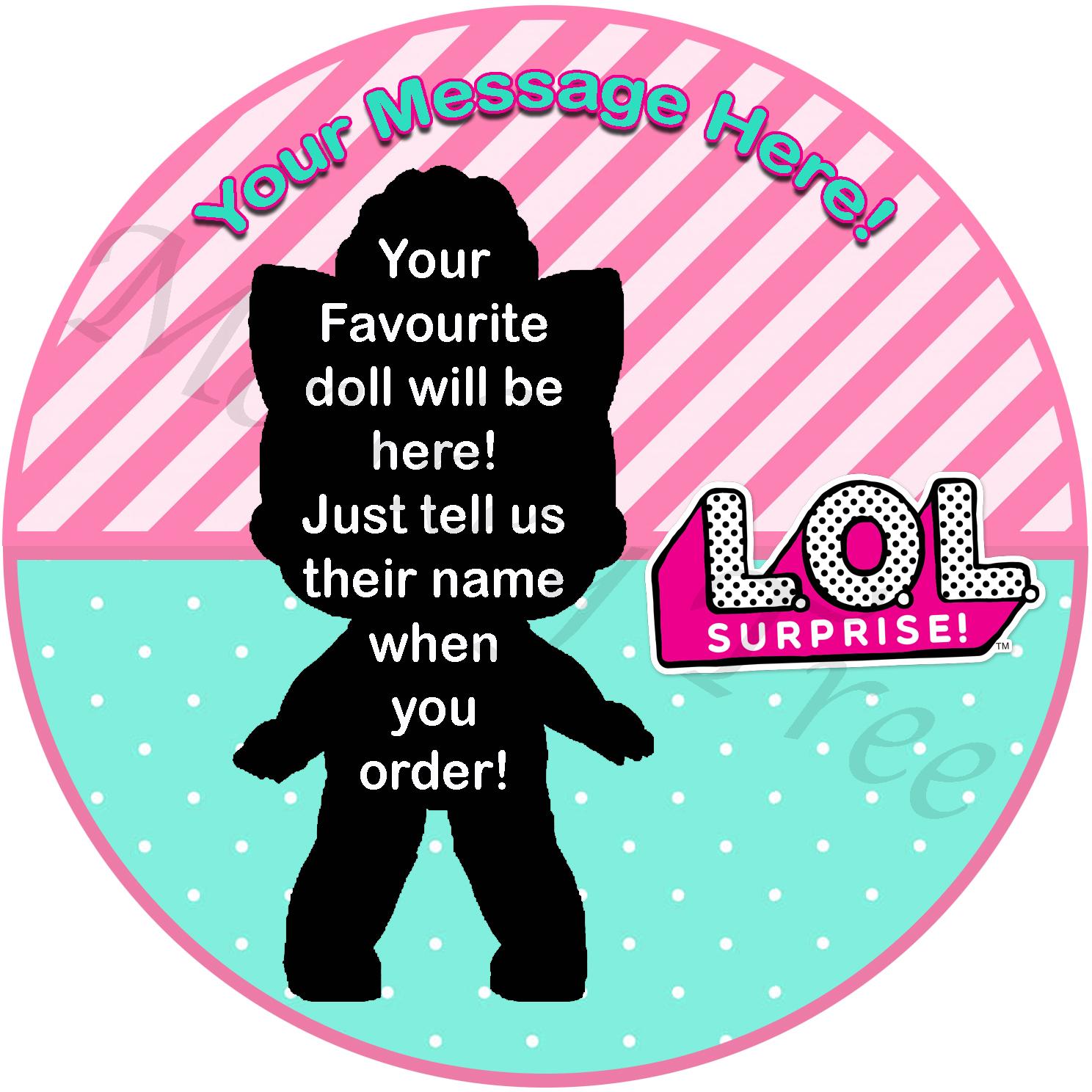 lol suprise doll edible image topper cake cupcake party confetti pop