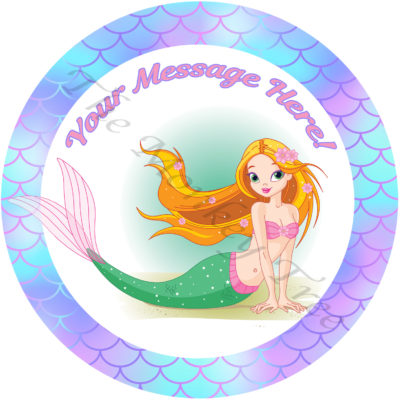 mermaid edible cake image topper under the sea Ariel birthday cake cupcake seahorse unicorn