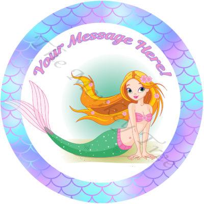 mermaid edible cake image topper under the sea Ariel birthday cake cupcake seahorse unicorn