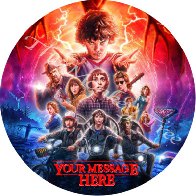 stranger things circle edible image topper Netflix