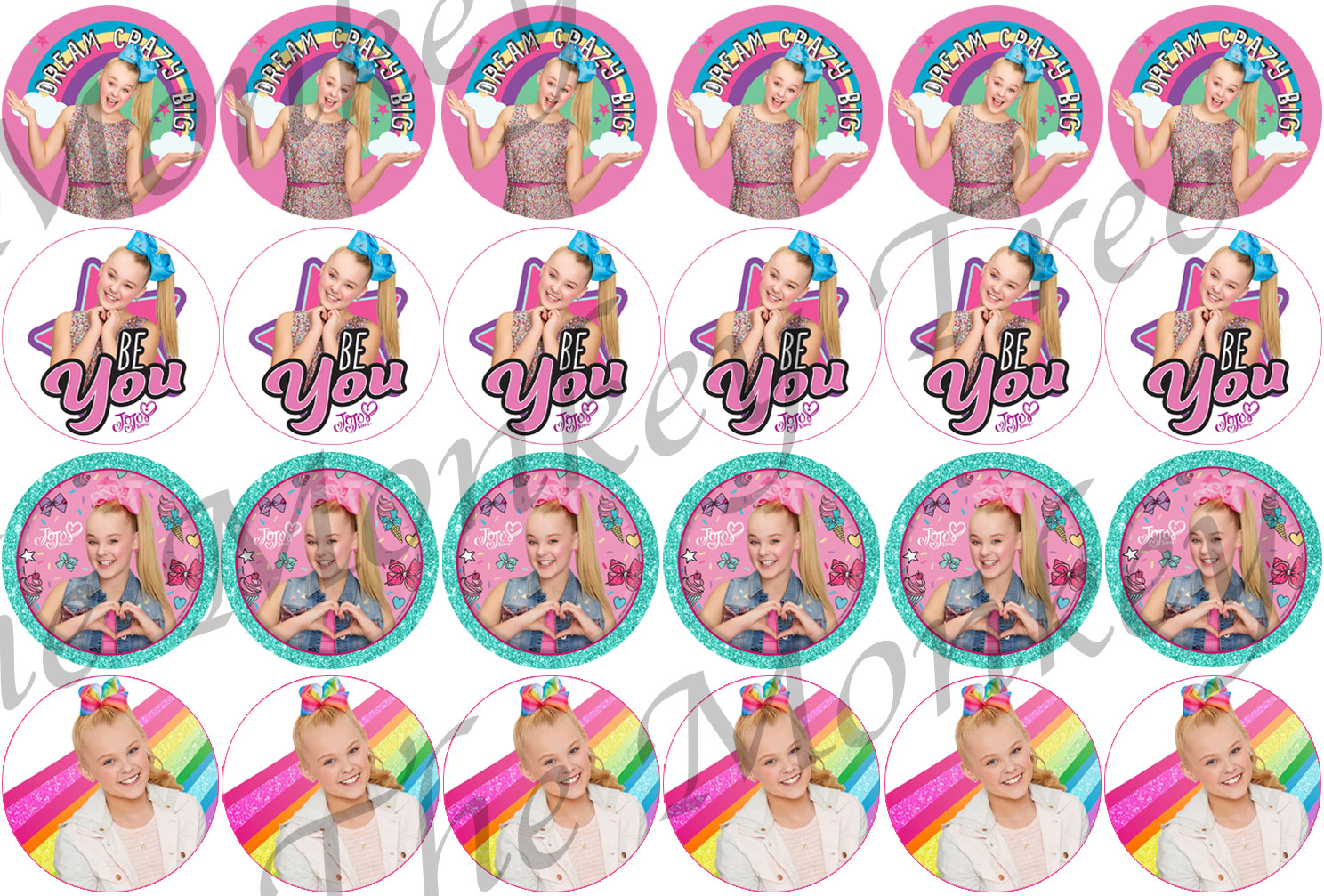 Jojo Siwa Edible Cupcake Image Toppers Set Of 24 The