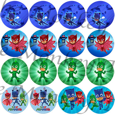pj masks cupcake image birthday party cake