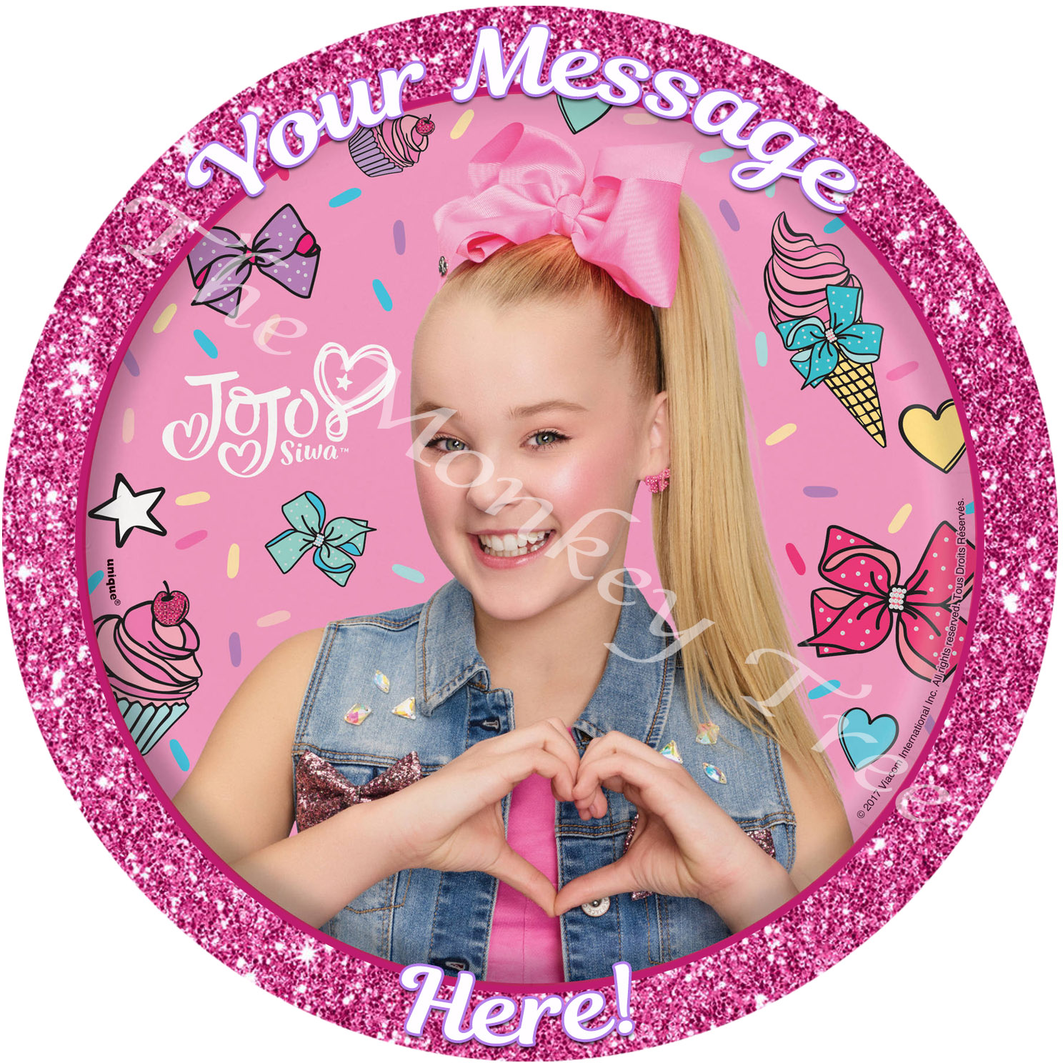 Jojo Siwa Edible Cake Image Topper Party Birthday Cupcake