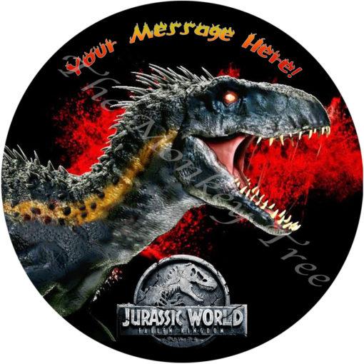 dinosaur edible cake image fondant jurassic endoraptor