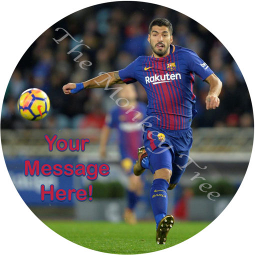 Luis suarez football soccer World Cup fc Barcelona edible cake cupcake image topper birthday