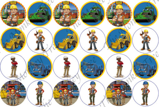 bob the builder edible cake image fondant cupcake