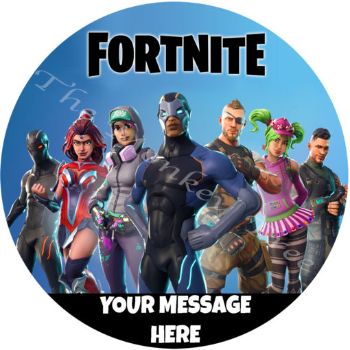 fortnite edible cake image topper birthday fondant icing party Auckland