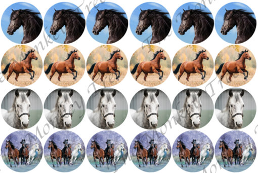 horse edible cupcake image fondant