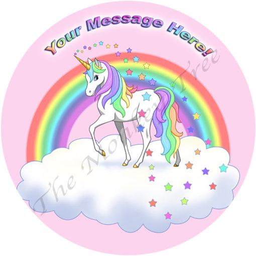 edible image fondant cake unicorn fairy magic birthday