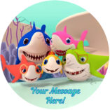 baby shark pink Fong edible cake image topper birthday party