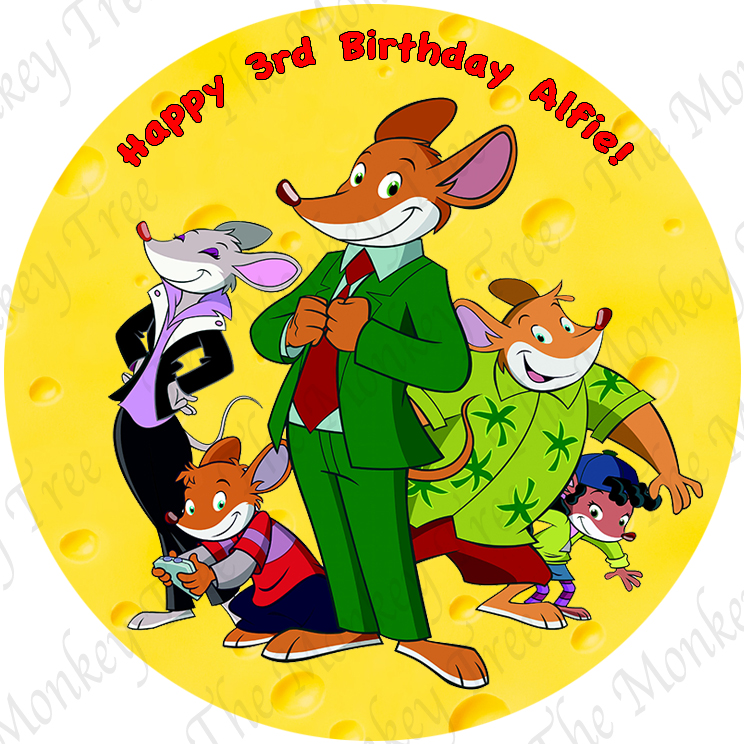 geronimo stilton edible cake image fondant birthday