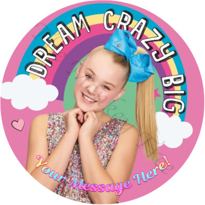 jojo Siwa edible cake image birthday cupcake party