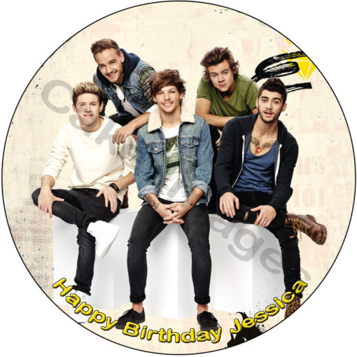 one direction 1D edible cake image topper birthday