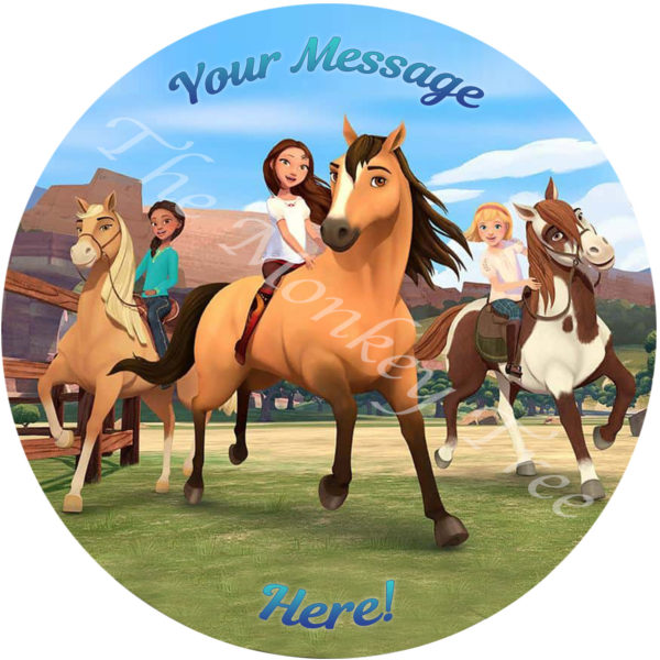 Spirit riding free edible cake images topper birthday horse