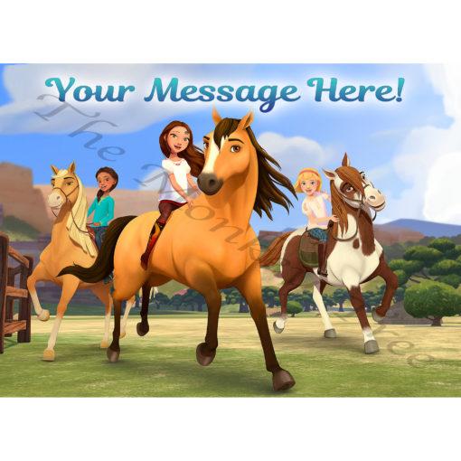 Spirit riding free edible cake images topper birthday horse