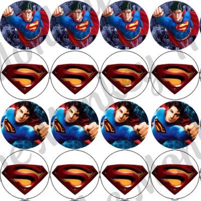 Superman Superhero Edible Cake Image Topper birthday party cupcake