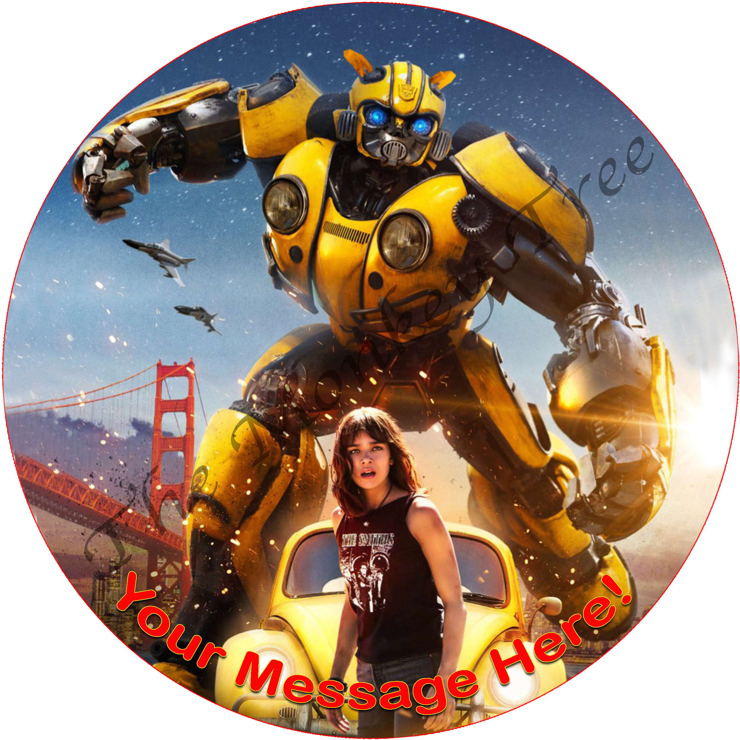 Bumblebee Movie Personalised Edible Cake Image The