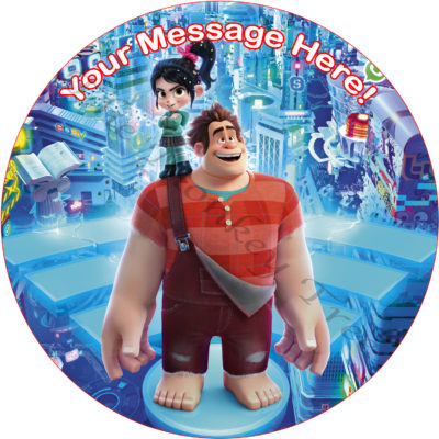 wreck it ralph breaks the internet edible cake birthday image