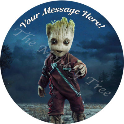 guardians of the galaxy edible cake image birthday party baby groot