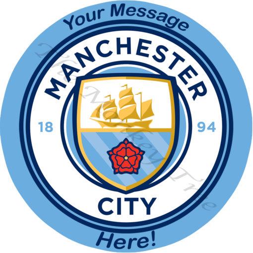 manchester city logo edible cake image soccer football birthday cake
