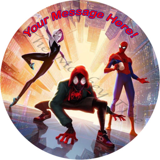 spiderman edible cake fondant icing image party superhero spider verse