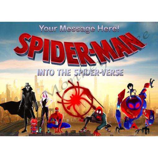 spiderman edible cake fondant icing image party superhero spider verse